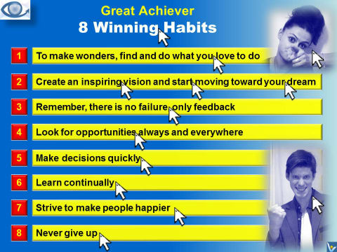 Be a Great Achiever: Devel 8 Winning Habits To Achieve Great Success (emfographics, Vadim Kotelnikov, Julia Vostrilova)