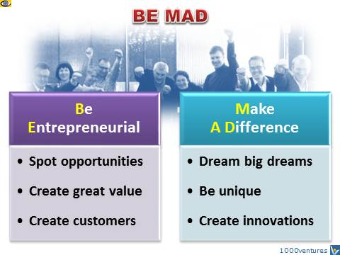 BE MAD - Be Entrepreneurial! Make A Difference! Vadim Kotelnikov