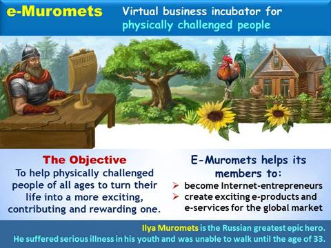 eMuromets - internet business incubators for physically challenged people, youth, Internet entrepreneurship, Vadim Kotelnikov, Russia
