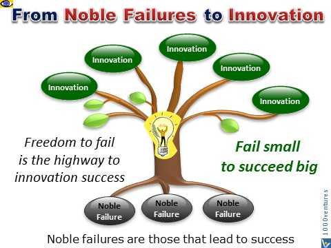 Innovation Process Freedom to Fail, Noble Failure