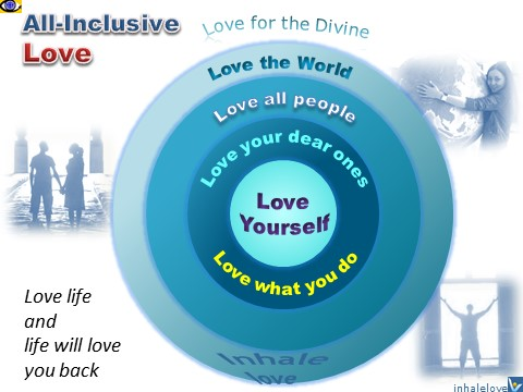 Love 360 - All-Inclusive Love: Love Yourself, Love Other People, Love what you do, Love Life, Love the World