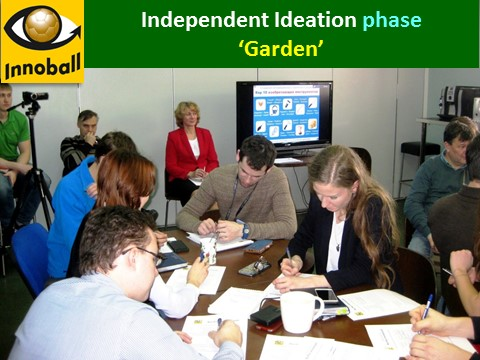 Garden independent ideation phase Innovation Braiinball, Innoball