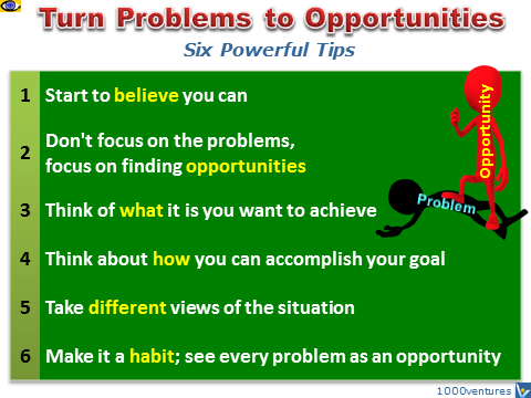 How To Turn Problems To Opportunities: 6 Tips