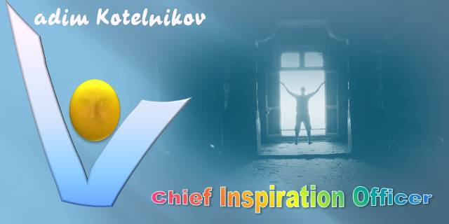 Vadim Kotelnikov logo banner - Chief Inspiration Officer - Inspiration for Business and Life, Innovation Unlimited