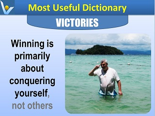 Winning is about cinquering yourself Vadim Kotelnikov Most Useful Dictionary