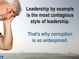 Vadim Kotelnikov Leadership jokes funny quotes leadership by example nourishes corruption