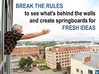 Break Rules quotes, Vadim Kotelnikov, see what's behind the walls, fresh ideas
