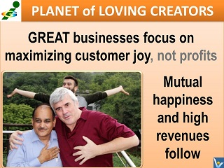 Great business is customer-focused, high revenues follow Vadim Kotelnikov quotes Innompic Planet of Loving Creators