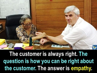 Vadim Kotelnikov customer empathy quotes how to know what customers want