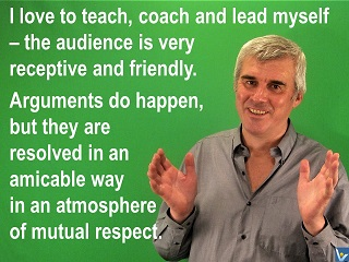 Self-leadership quote joke Vadim Kotelnikov I love to lead muyself - the audience is very receptive and friendly