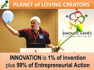 What is innovation quotes Innovation is 1% invention and 99% entrepreneurial action Vadim Kotelnikov KoRe 10 Innovative Thinking Tools 1st Innompic Games