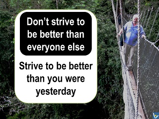 Vadim Kotelnikov quotes Strive to be better than you were yesterday