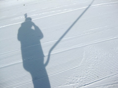 Shelfie, shadow-based funny selfie, Surface Ski Lift, Vadin Kotelnikov, creative selfies